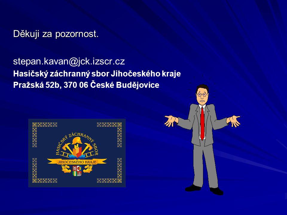 Děkuji za pozornost. stepan.kavan@jck.izscr.cz