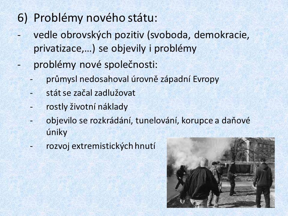 Problémy nového státu: