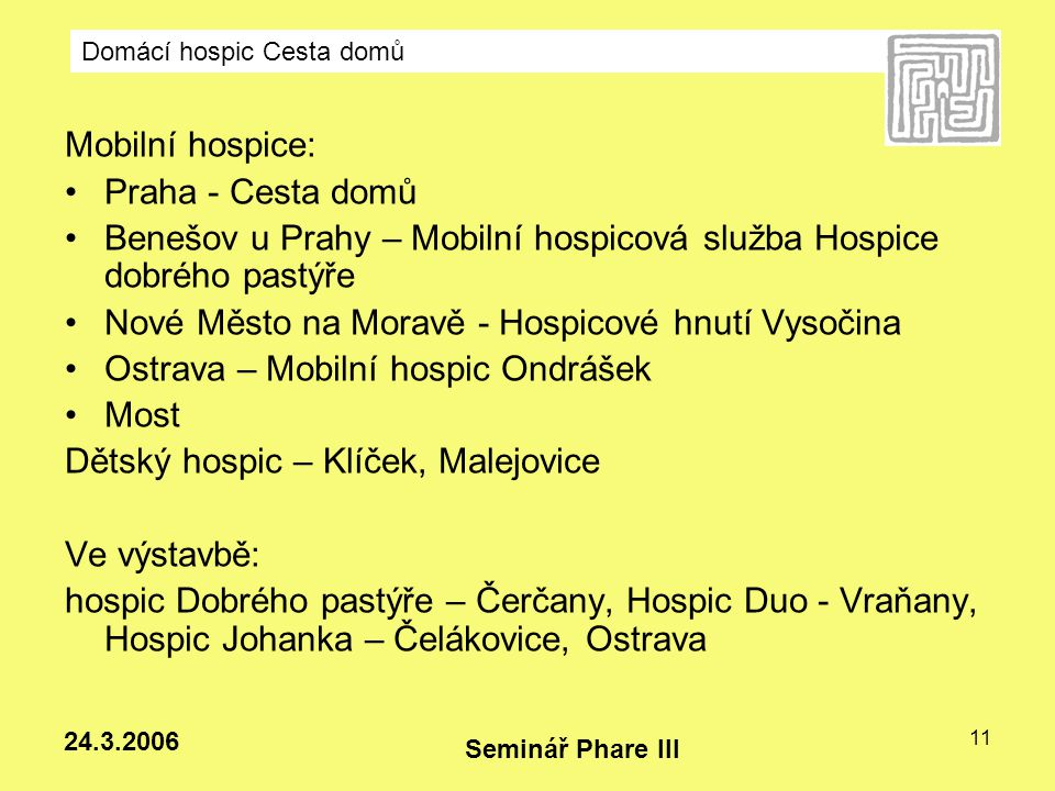 Benešov u Prahy – Mobilní hospicová služba Hospice dobrého pastýře