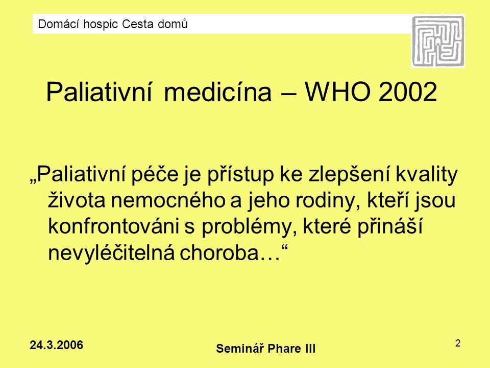 Paliativní medicína – WHO 2002