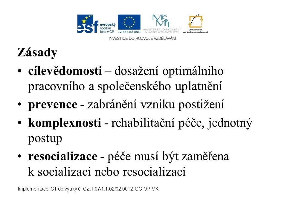prevence - zabránění vzniku postižení