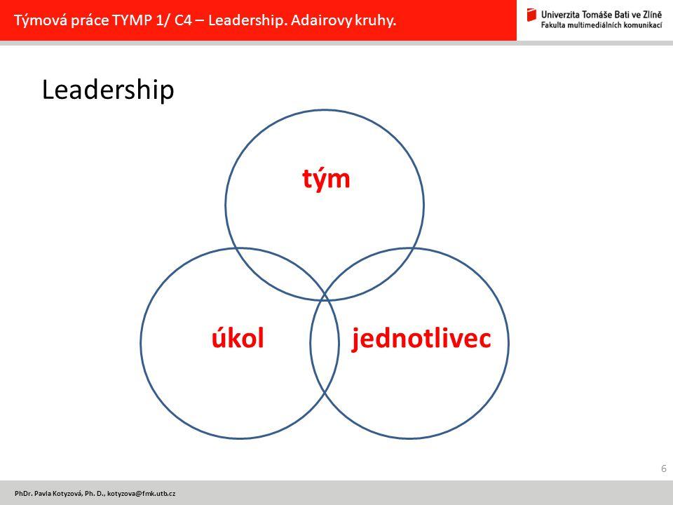 tým Leadership úkol jednotlivec