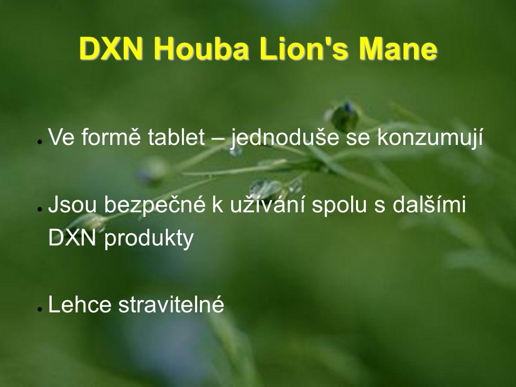 DXN Houba Lion s Mane Ve formě tablet – jednoduše se konzumují