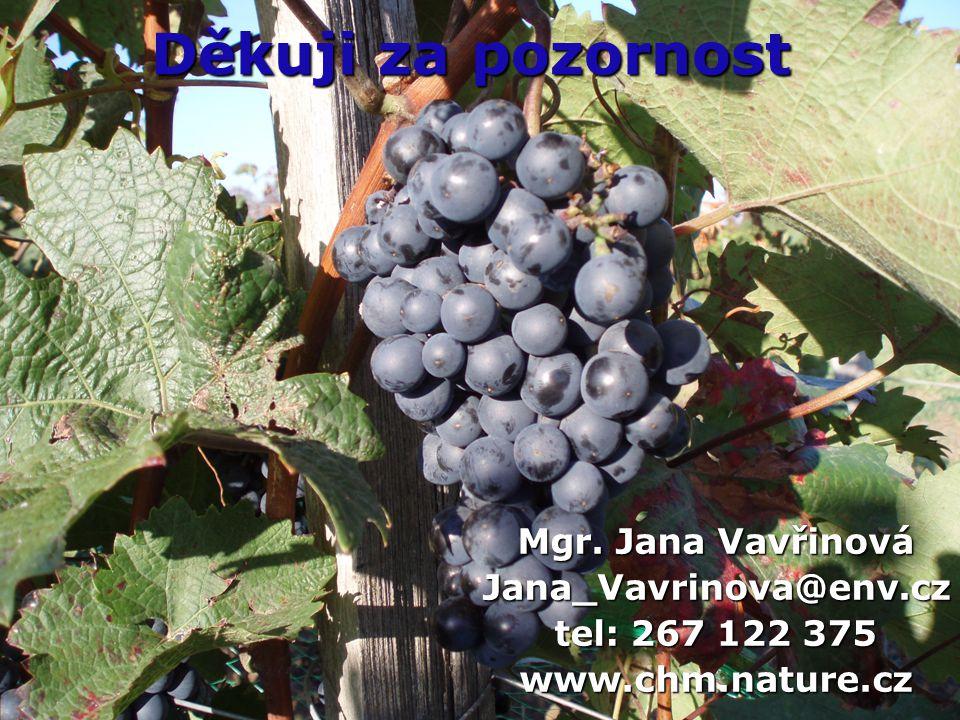Děkuji za pozornost Mgr. Jana Vavřinová Jana_Vavrinova@env.cz