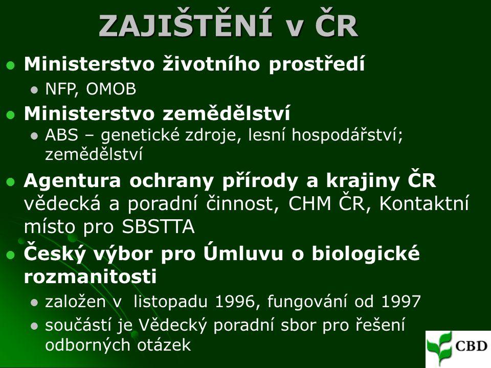 ZAJIŠTĚNÍ v ČR Ministerstvo životního prostředí