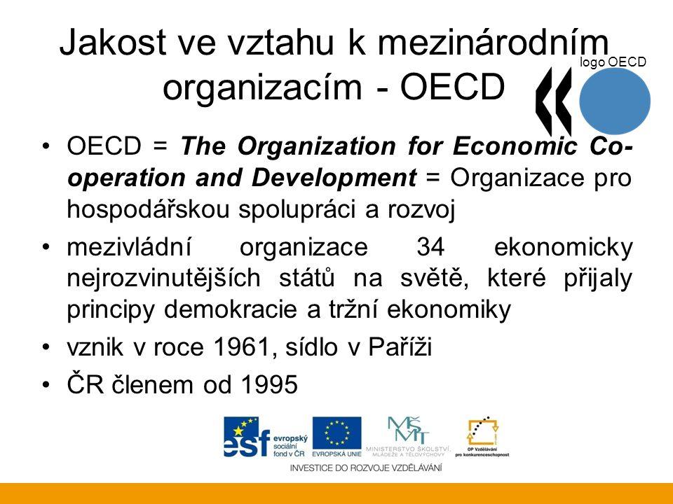 Jakost ve vztahu k mezinárodním organizacím - OECD