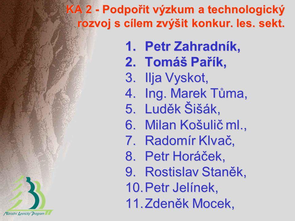 Petr Zahradník, Tomáš Pařík, Ilja Vyskot, Ing. Marek Tůma,