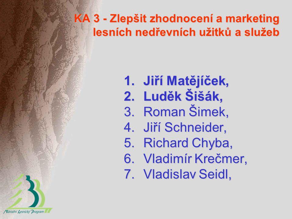 Jiří Matějíček, Luděk Šišák, Roman Šimek, Jiří Schneider,