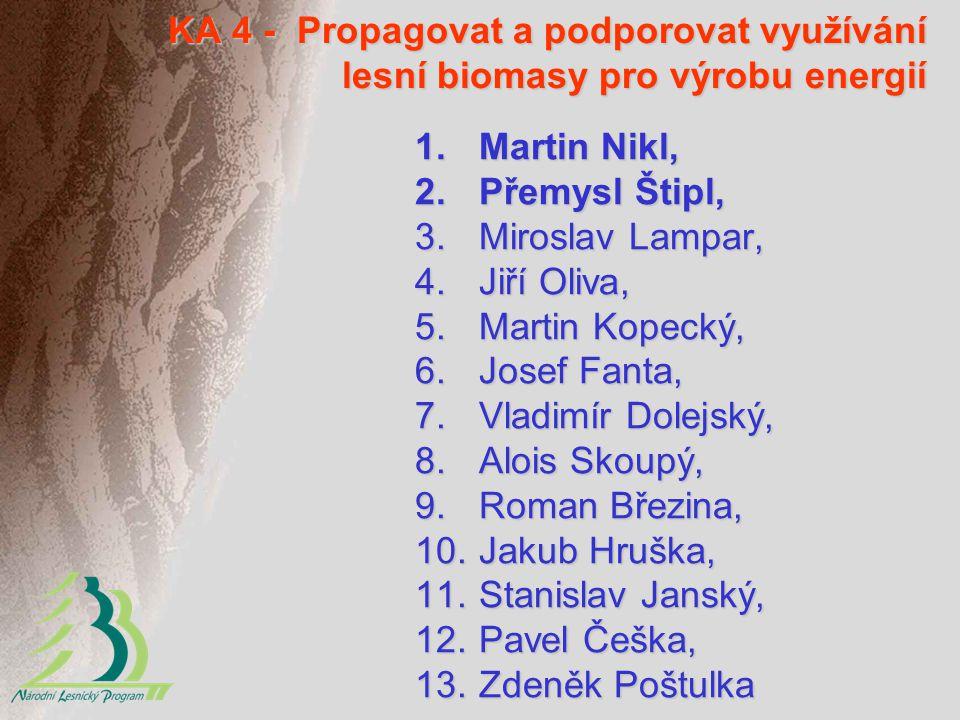 KA 4 - Propagovat a podporovat využívání lesní biomasy pro výrobu energií