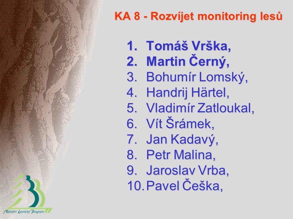 KA 8 - Rozvíjet monitoring lesů