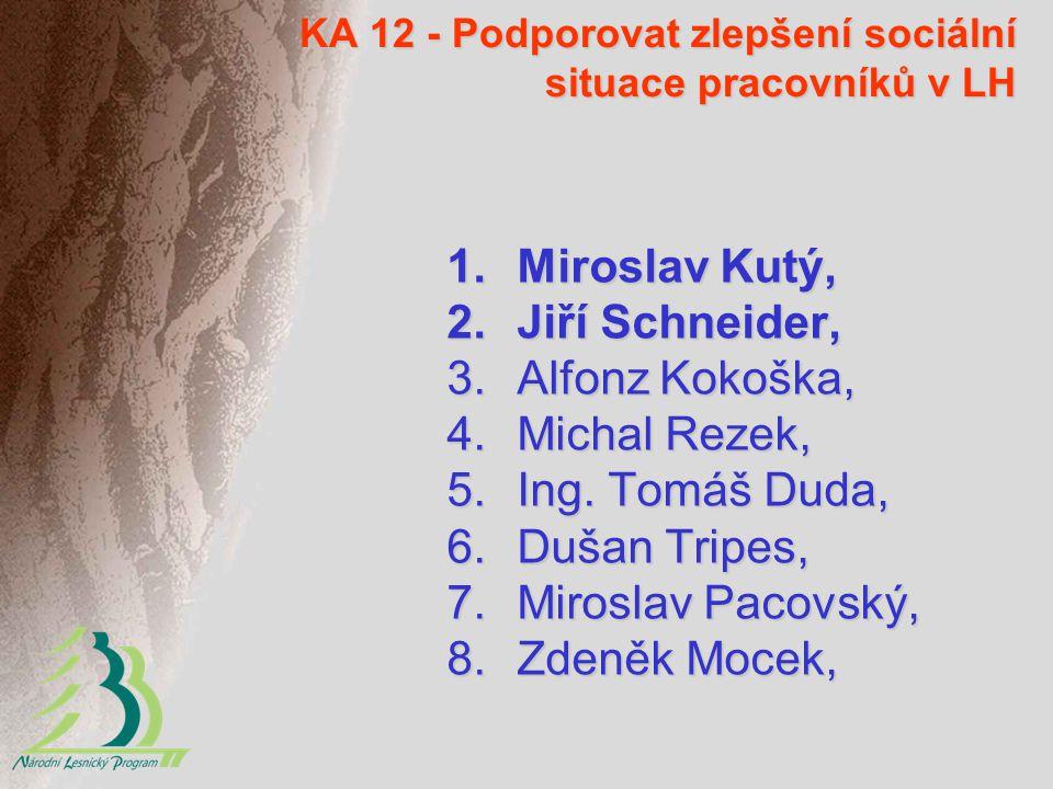 KA 12 - Podporovat zlepšení sociální situace pracovníků v LH