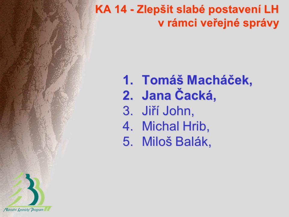 KA 14 - Zlepšit slabé postavení LH v rámci veřejné správy