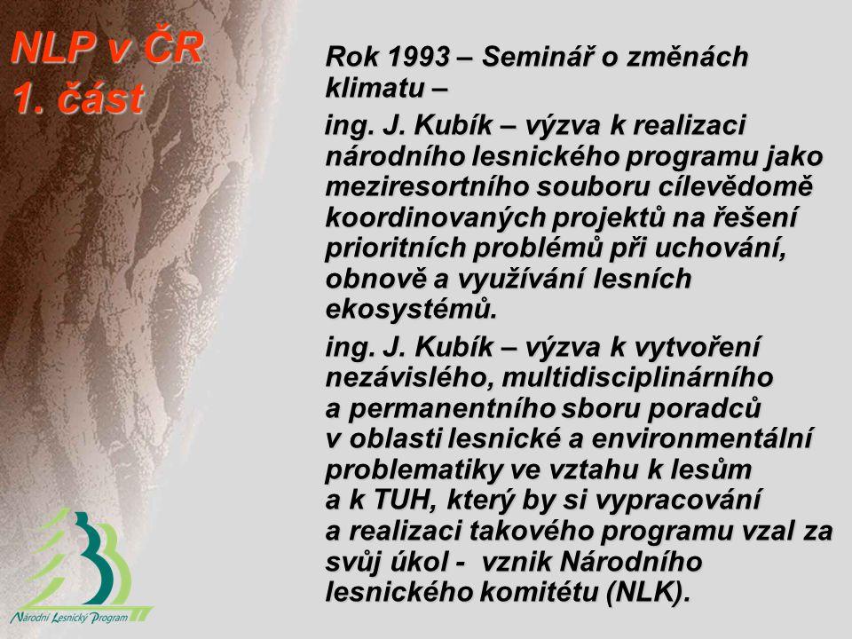 NLP v ČR 1. část Rok 1993 – Seminář o změnách klimatu –