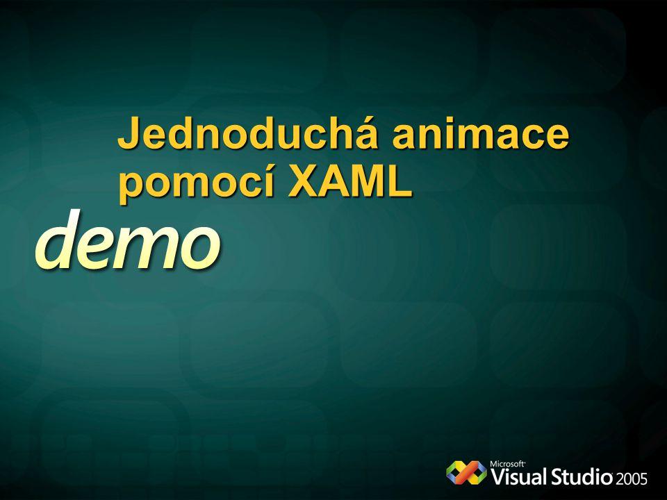 Jednoduchá animace pomocí XAML