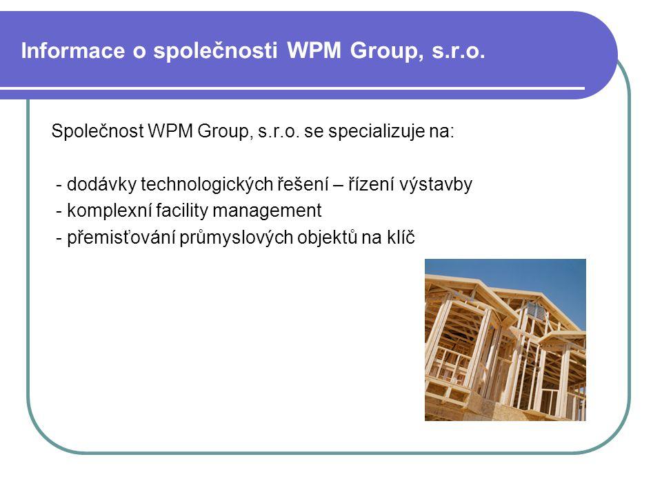 Informace o společnosti WPM Group, s.r.o.
