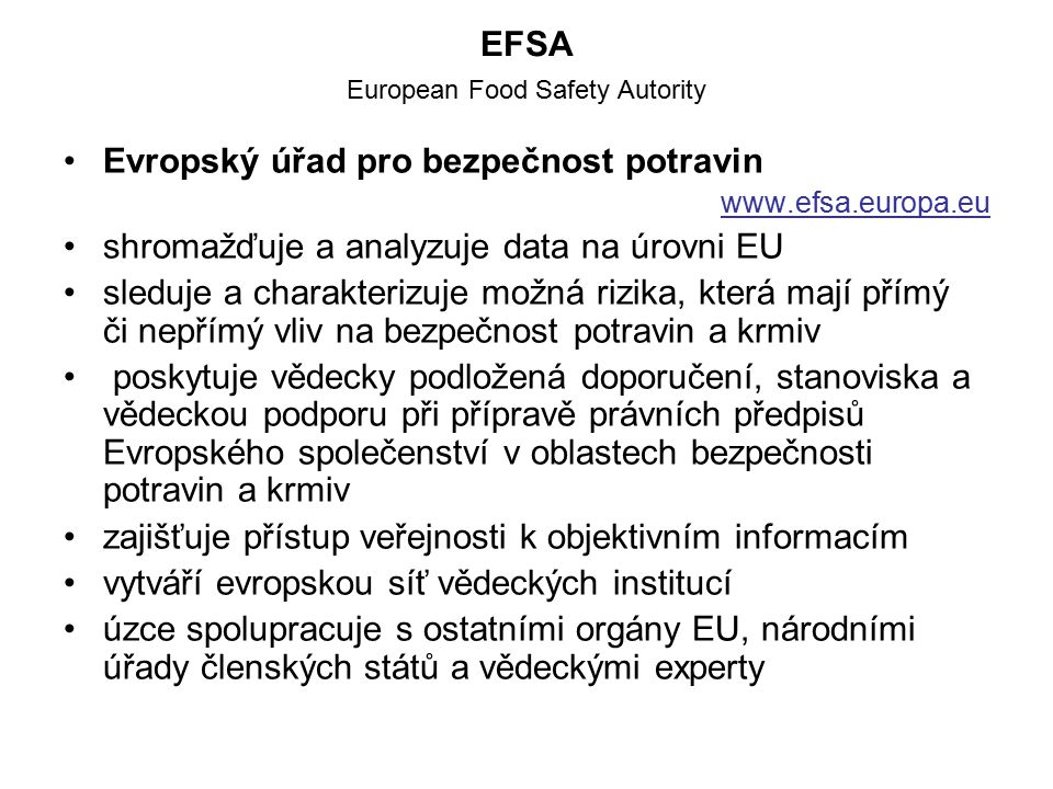 EFSA European Food Safety Autority