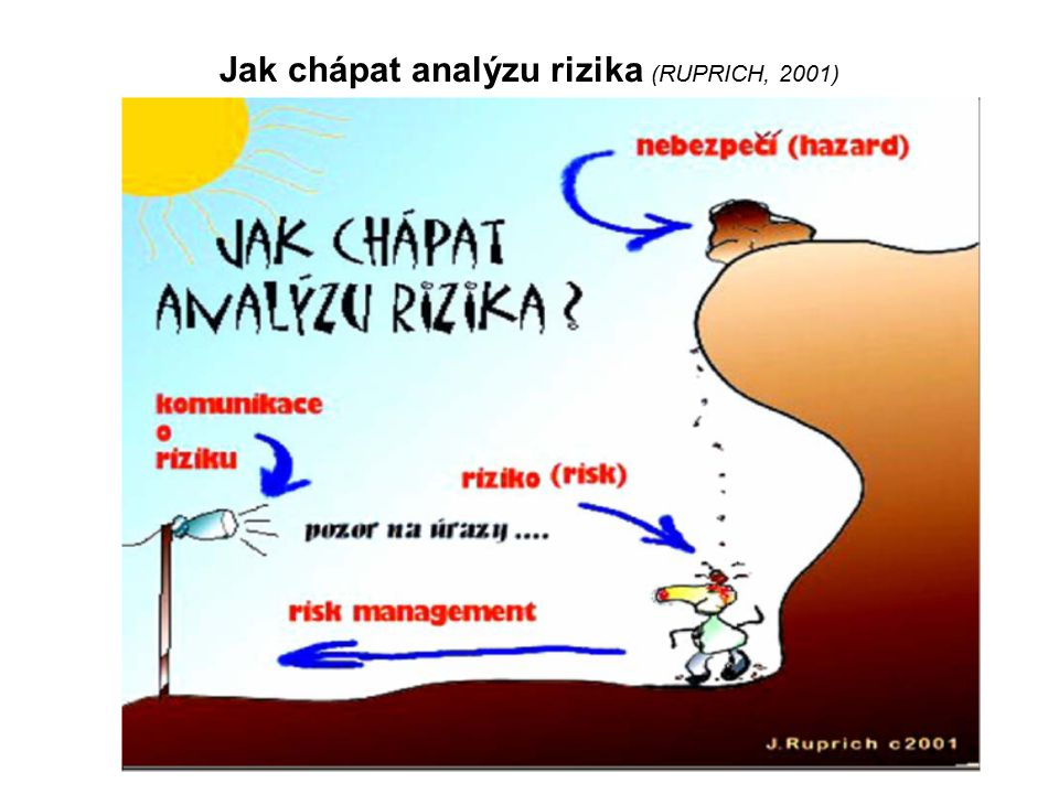 Jak chápat analýzu rizika (RUPRICH, 2001)
