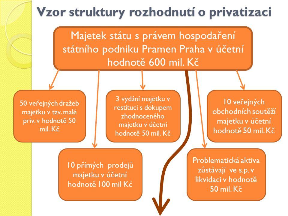 Vzor struktury rozhodnutí o privatizaci