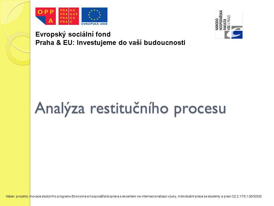 Analýza restitučního procesu