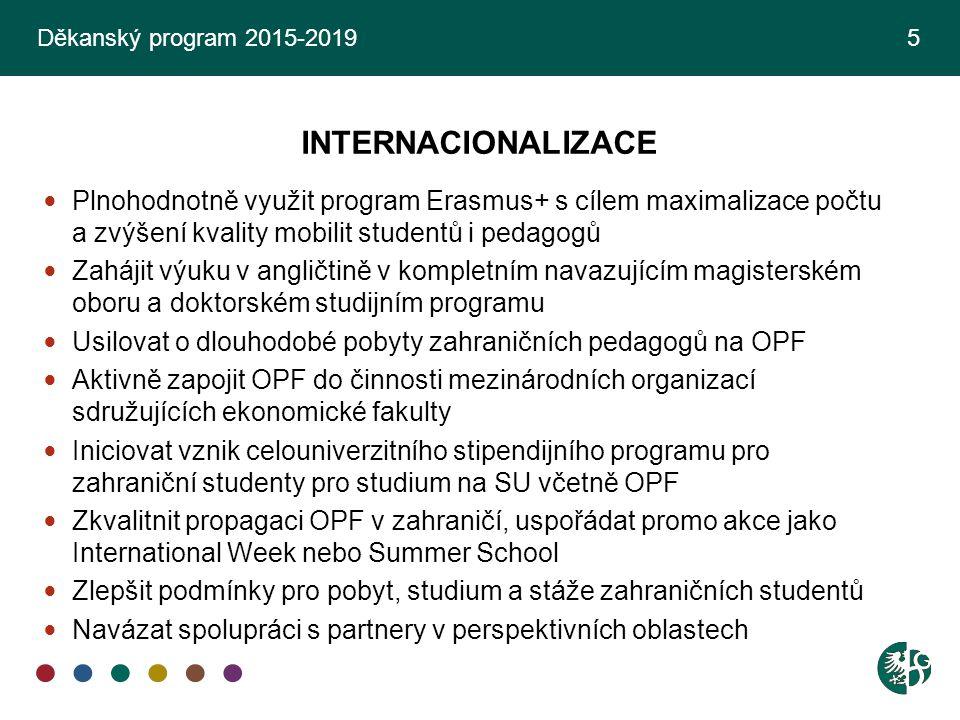Děkanský program 2015-2019 5 INTERNACIONALIZACE.