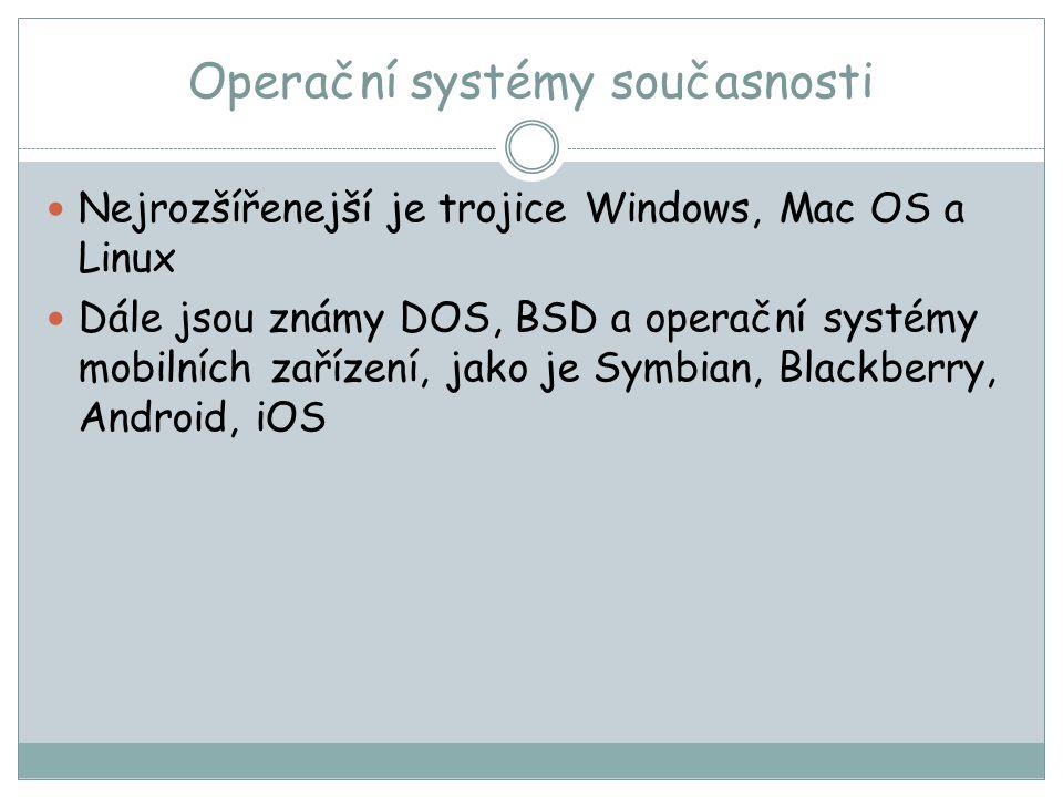 Operační systémy současnosti