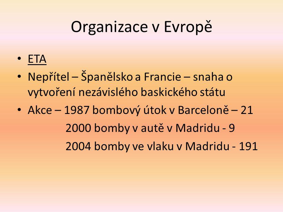 Organizace v Evropě ETA