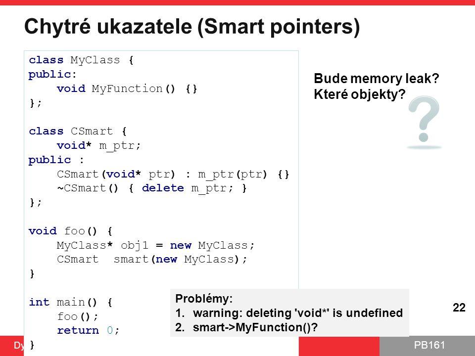 Chytré ukazatele (Smart pointers)