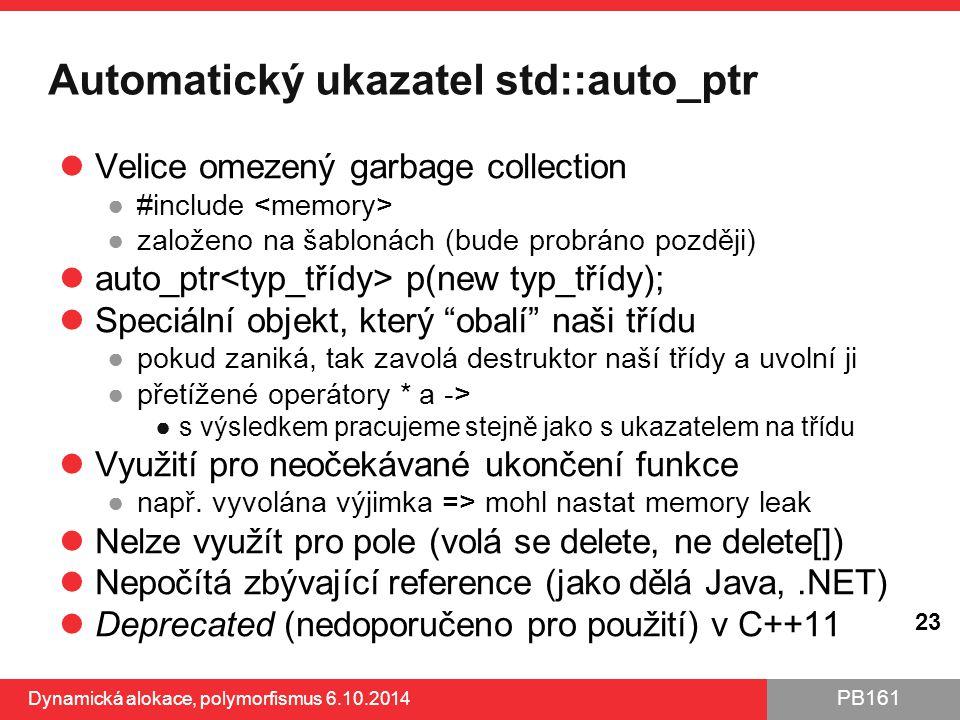 Automatický ukazatel std::auto_ptr