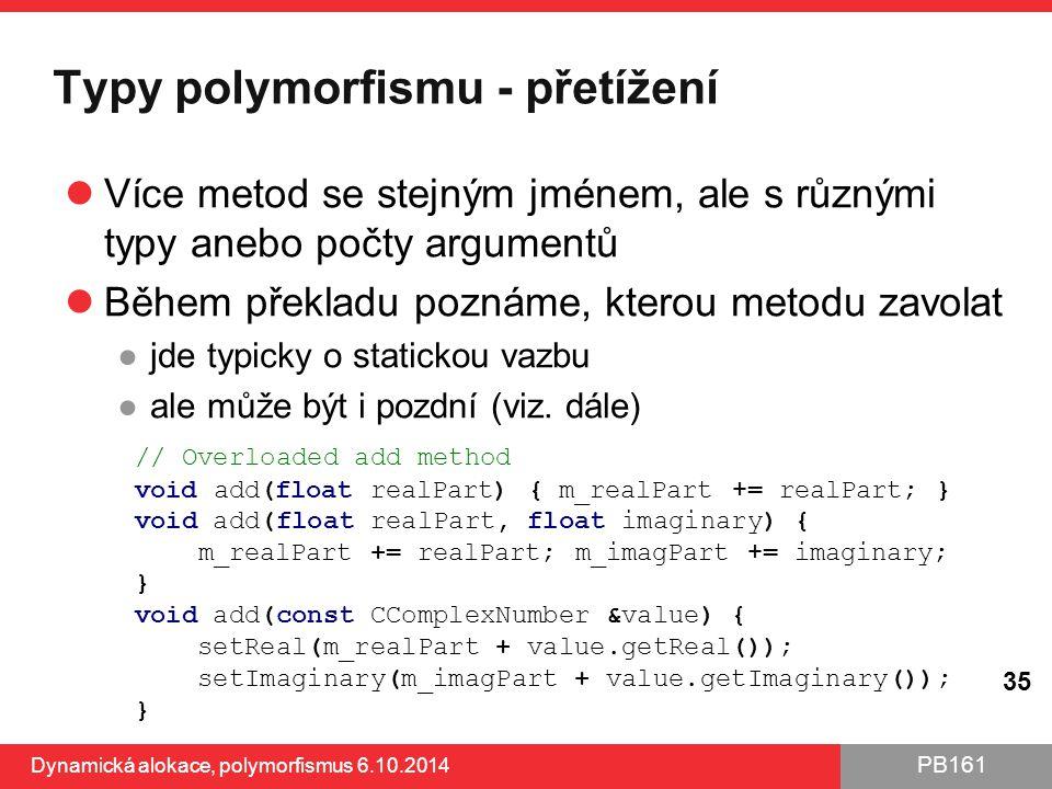 Typy polymorfismu - přetížení