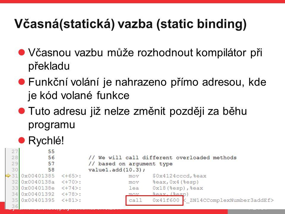Včasná(statická) vazba (static binding)