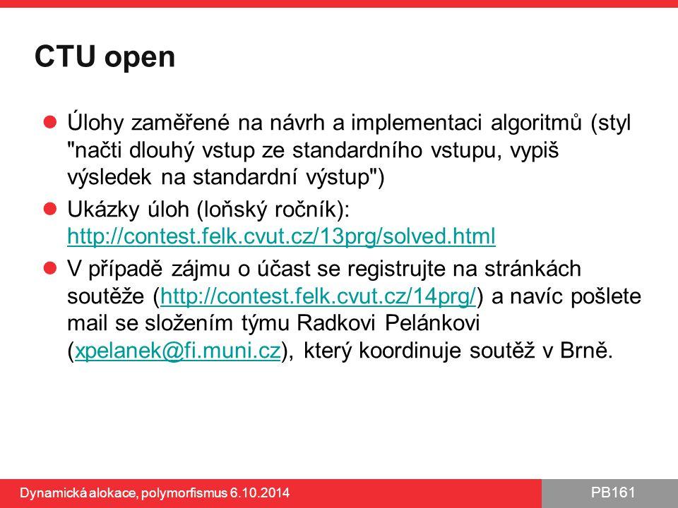 CTU open Úlohy zaměřené na návrh a implementaci algoritmů (styl načti dlouhý vstup ze standardního vstupu, vypiš výsledek na standardní výstup )