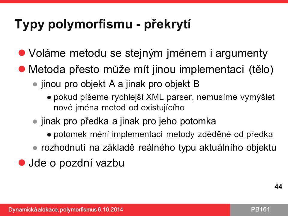Typy polymorfismu - překrytí