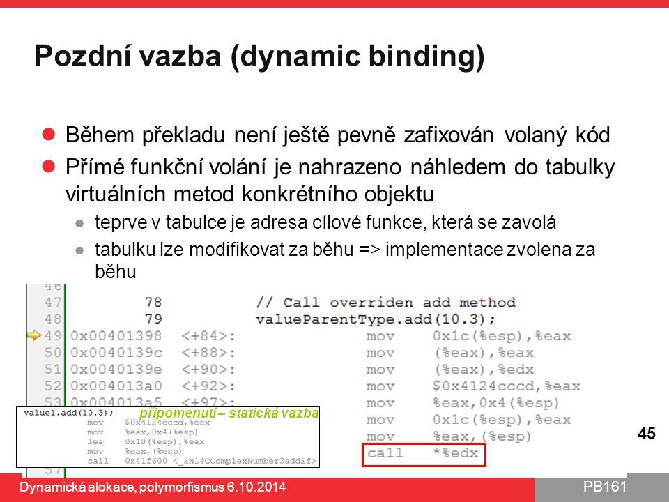 Pozdní vazba (dynamic binding)