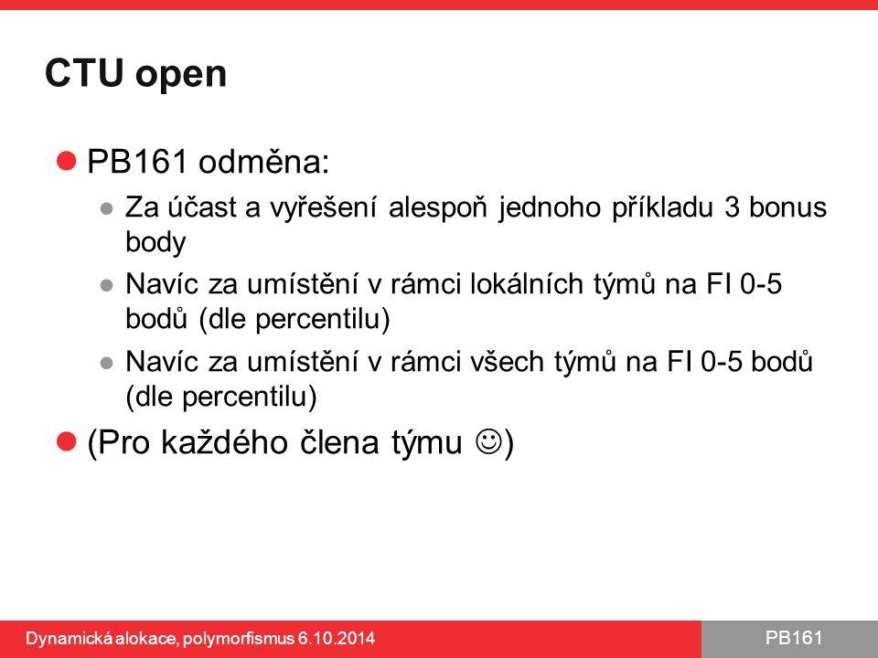 CTU open PB161 odměna: (Pro každého člena týmu )