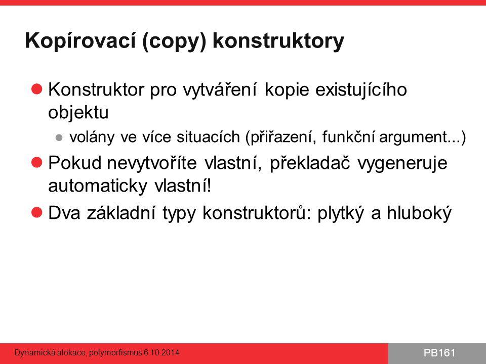 Kopírovací (copy) konstruktory