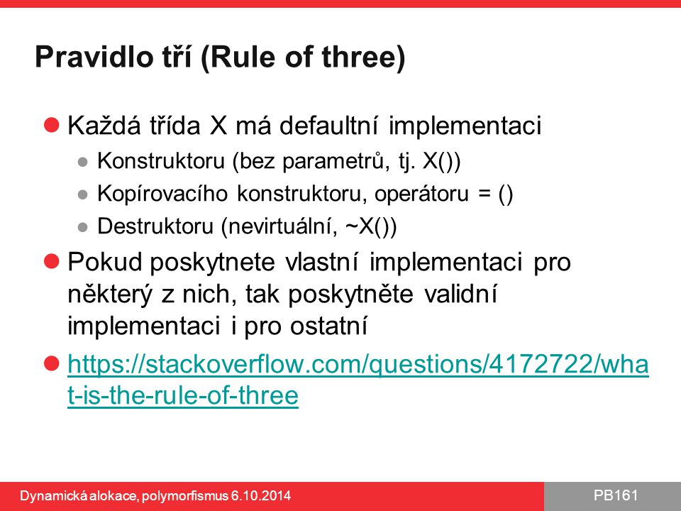 Pravidlo tří (Rule of three)