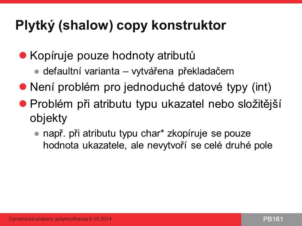 Plytký (shalow) copy konstruktor