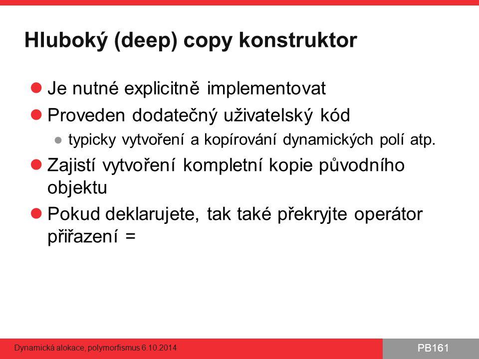 Hluboký (deep) copy konstruktor