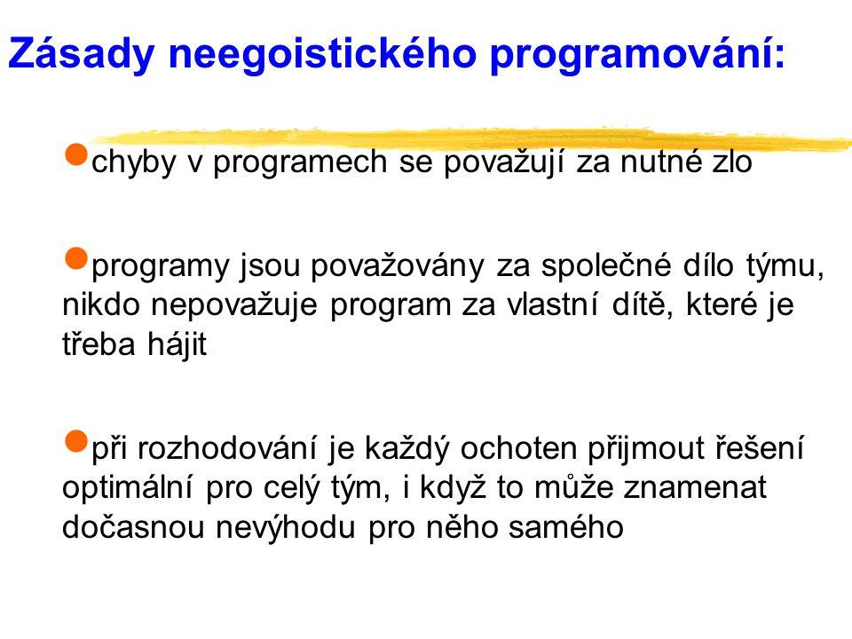 Zásady neegoistického programování: