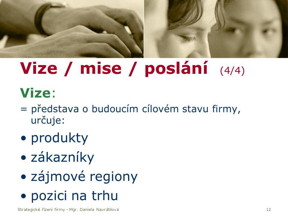 Vize / mise / poslání (4/4)