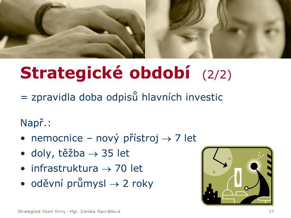 Strategické období (2/2)
