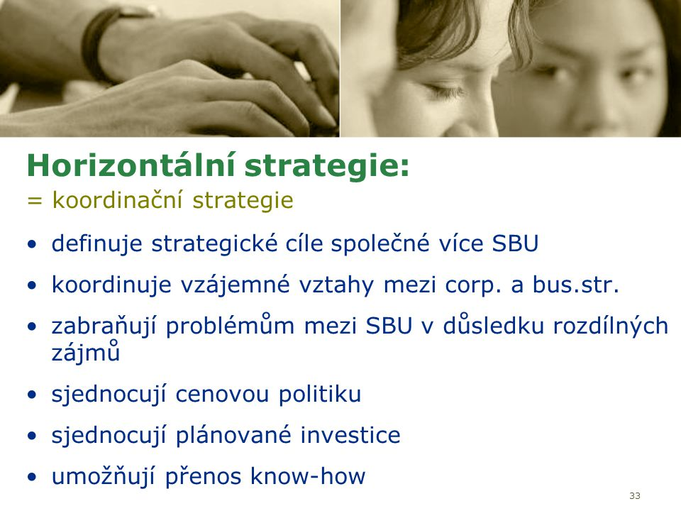 Horizontální strategie: