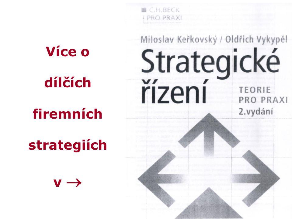 Více o dílčích firemních strategiích