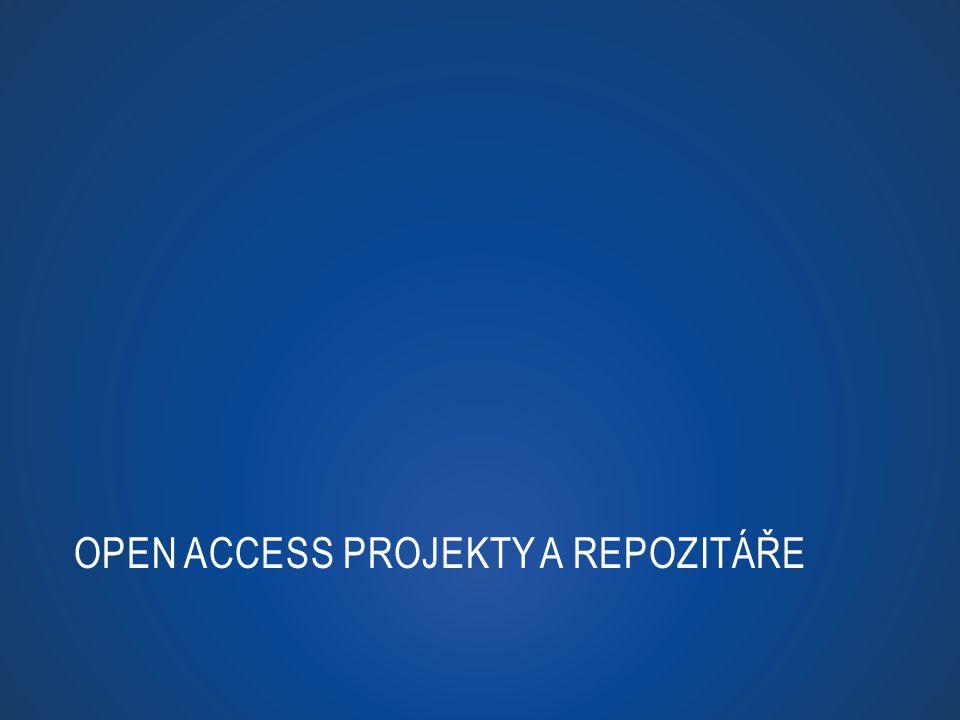 Open Access projekty a repozitáře