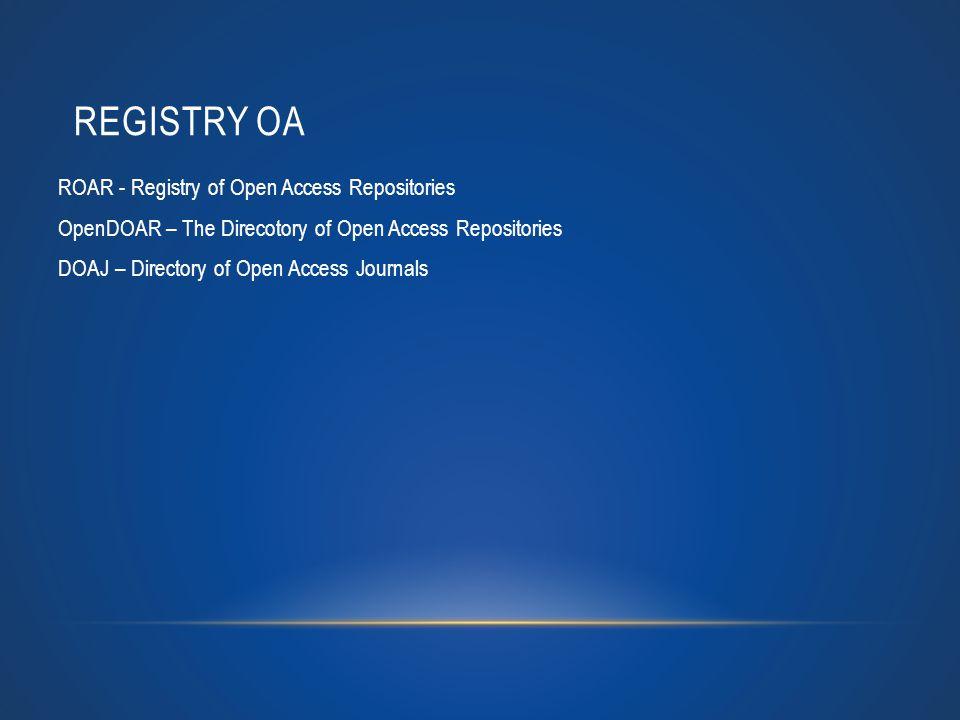 Registry OA