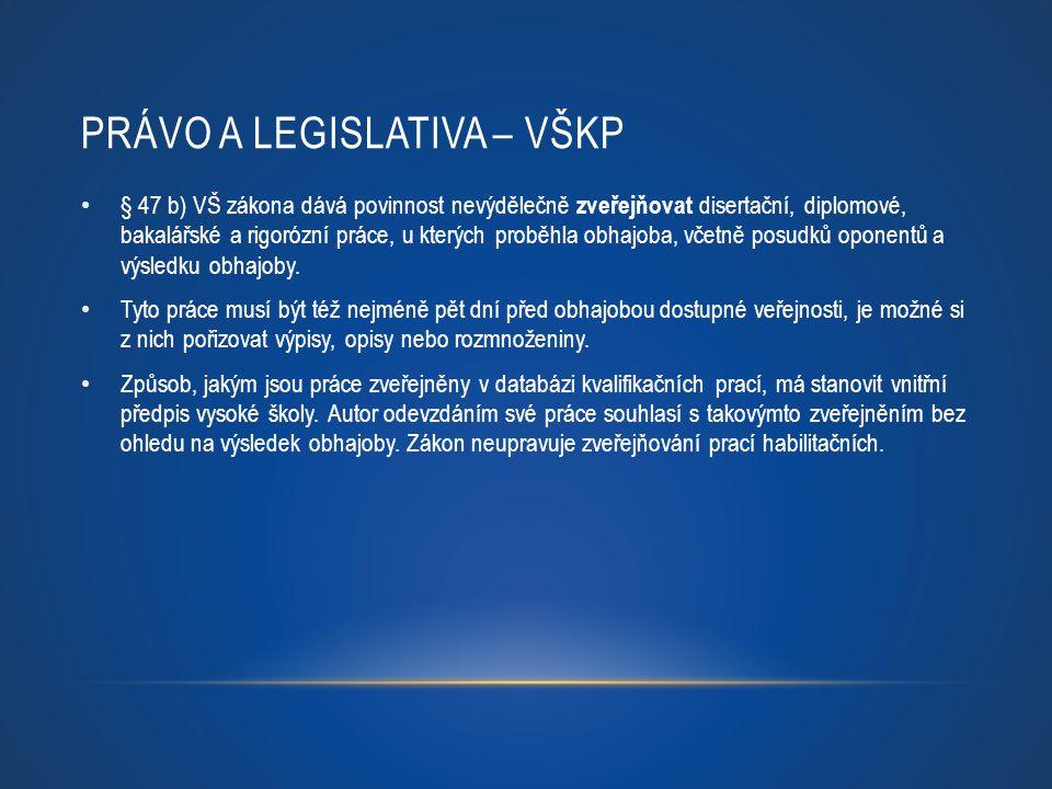 Právo a legislativa – VŠKP
