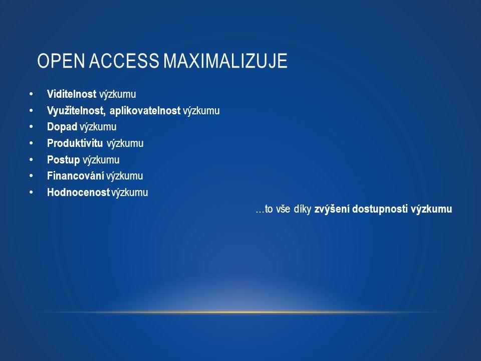 Open Access maximalizuje