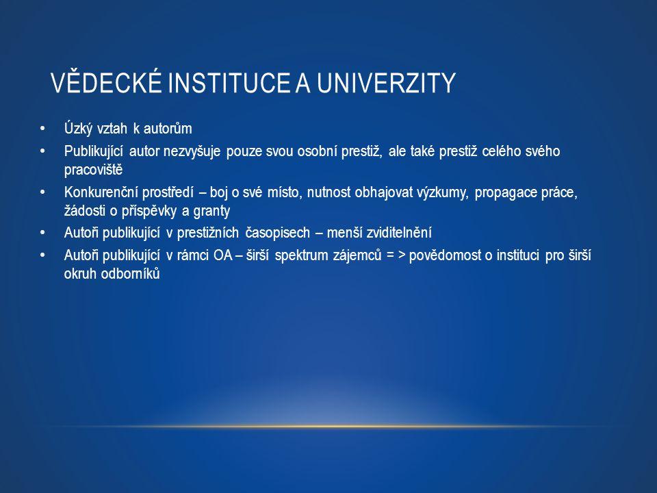Vědecké instituce a univerzity