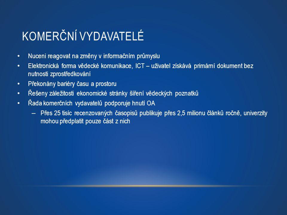 Komerční vydavatelé Nuceni reagovat na změny v informačním průmyslu