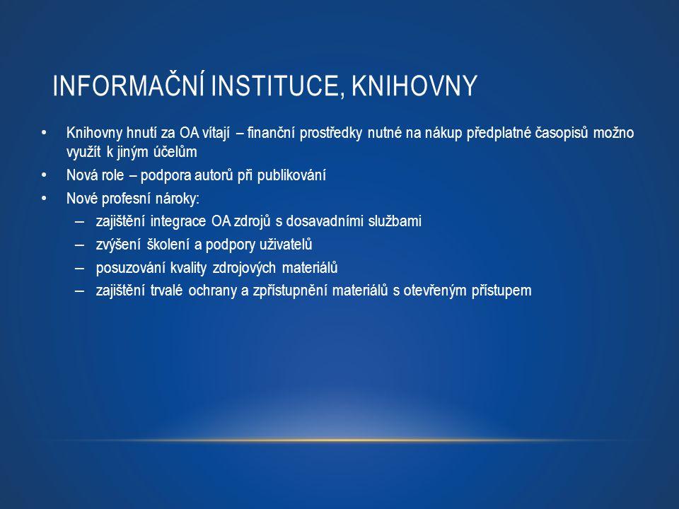 Informační instituce, knihovny